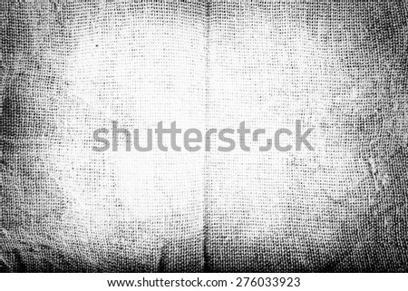 Black and white Texture of Sackcloth in grunge style - stock photo