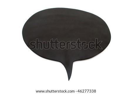 black board speech bubble - stock photo
