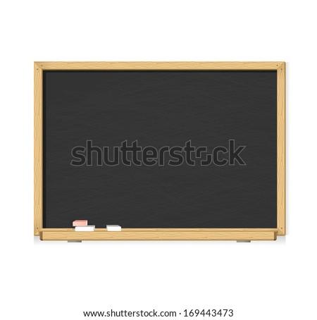 black chalkboard - stock photo