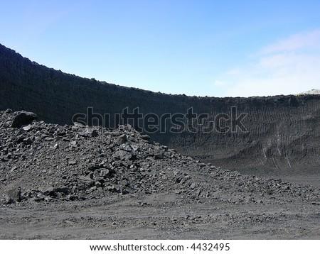 Black coal mine in Czech republic - stock photo