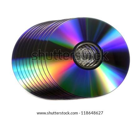 Blank DVD discs - stock photo