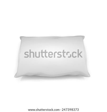 blank pillow isolated on white background - stock photo