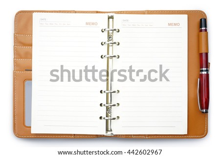 blank realistic spiral notepad notebook                               - stock photo