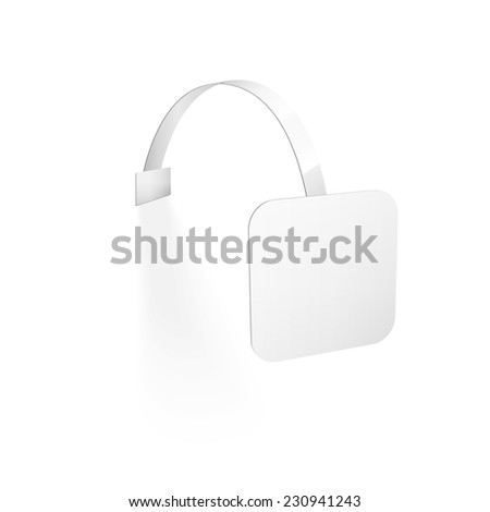 Blank Wobbler with Transparent Strip Isolated on a White Background - stock photo