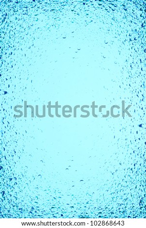 """Blue clean water with bubbles"" - stock photo"
