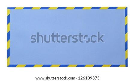 Blue envelope isolated on white background - stock photo