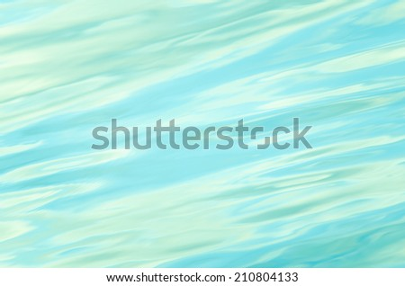 Blue Green Water Ripple / Wave Background - stock photo
