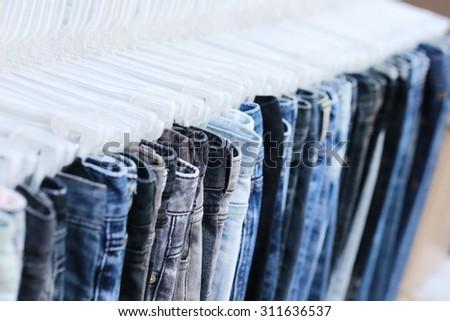 blue jeans shop - stock photo
