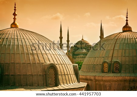 Blue Mosque in Istanbul. Turkey - stock photo