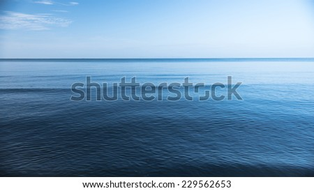 Blue Ocean and Calm - stock photo