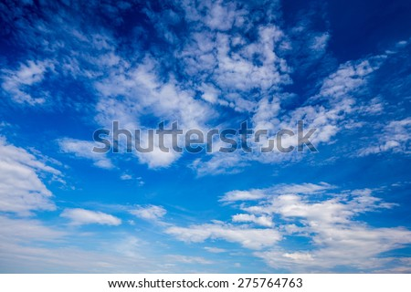 Blue sky and clouds XXL. Sky and clouds background. Sky background / Blue Sky and Clouds - stock photo