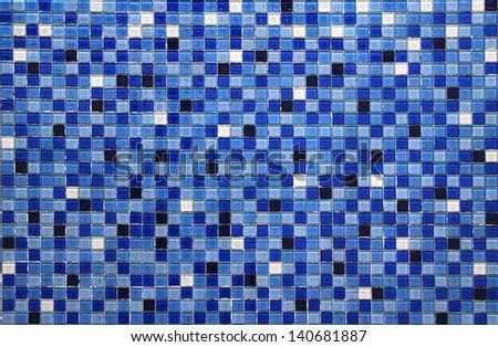 blue small colorful tile background - stock photo
