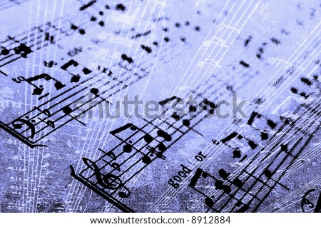 blues music abstract - stock photo