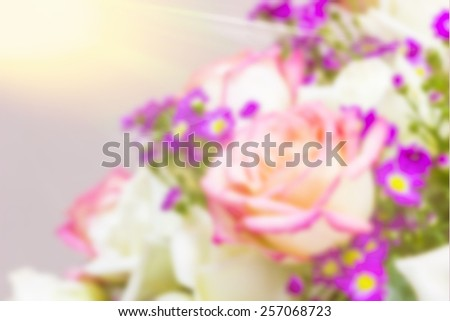 Blur roses in a vase - stock photo
