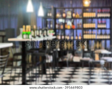 blurred background -the wine bottles  - stock photo