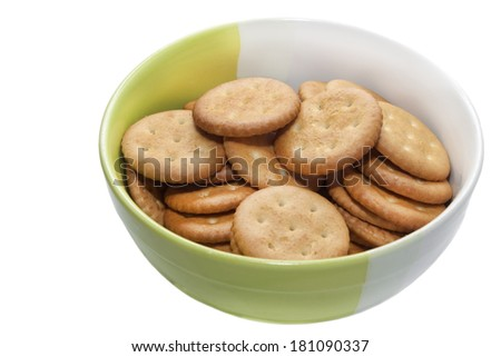 bowl with cookies - stock photo