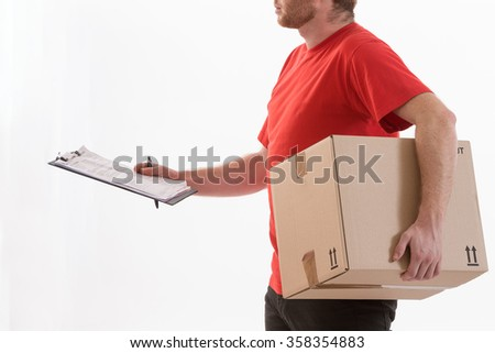 box delivery services - stock photo