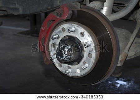 brake car systems - stock photo