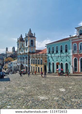 Brasil. Salvador de Bahia. Pelourinho - stock photo