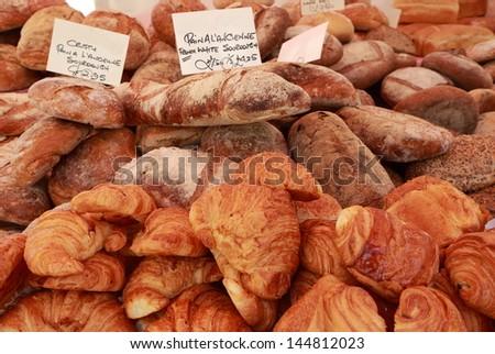 bread stand - stock photo
