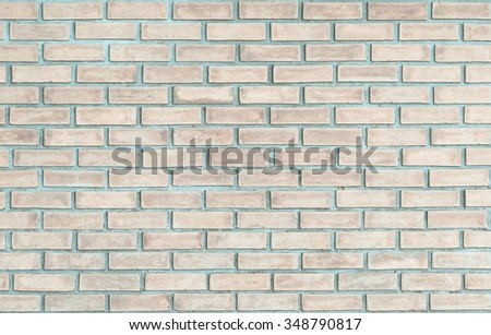brick wall background in vintage style. concept.Abstract weathered texture stained old stucco brick wall background in room, blocks of stonework  color horizontal architecture wallpaper - stock photo