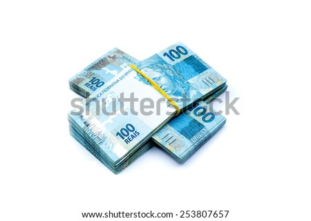 100 BRL - brazilian currency - stock photo