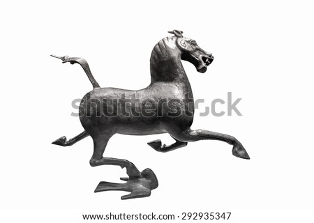 bronze horse - stock photo