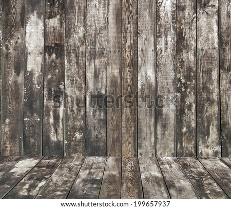 brown wood background with a natural patterns - stock photo