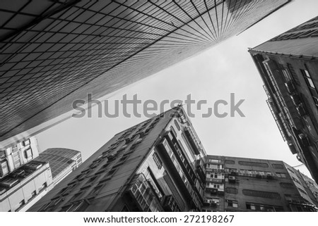 Building Skyscrapers in Taipei - stock photo