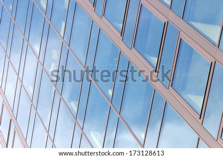 Bunch of windows on the building - stock photo
