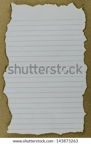 burnt paper - stock photo
