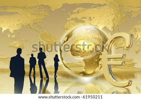 Business, success concept - Golden Background - stock photo