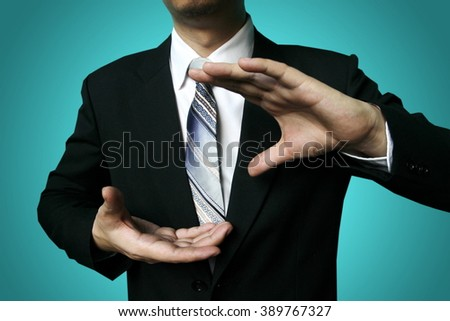 businessman hand hold - stock photo