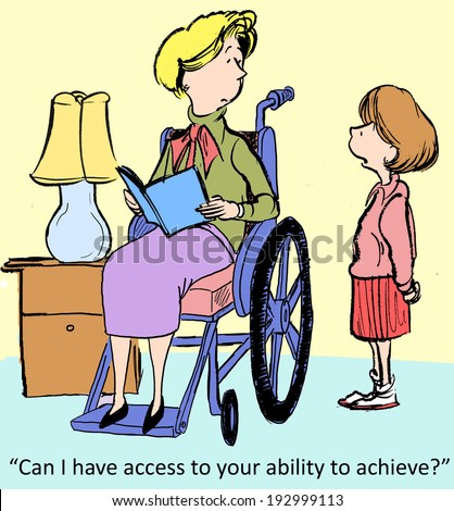 """Can I have access to your ability to achieve?"" - stock photo"