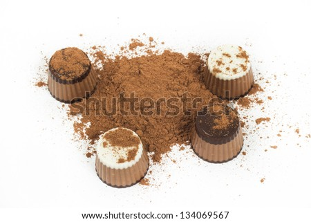 candy on the white background - stock photo