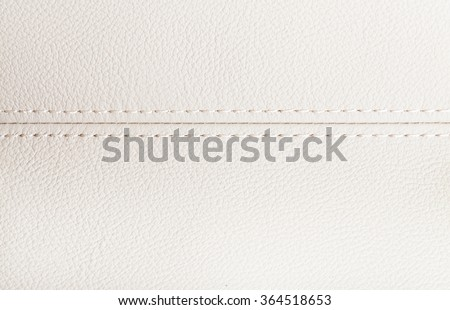car leather interior details with stitch - stock photo