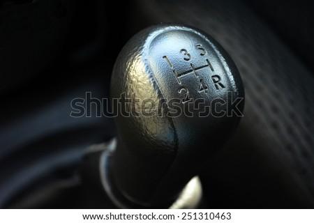 car stick with 5 speeds, truck - stock photo