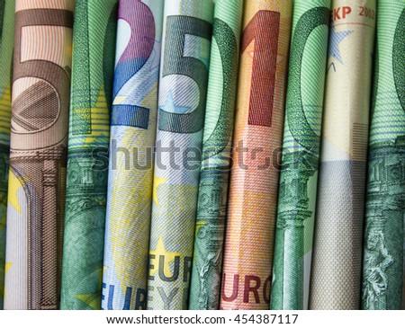 cash money - euro bills / european money - stock photo