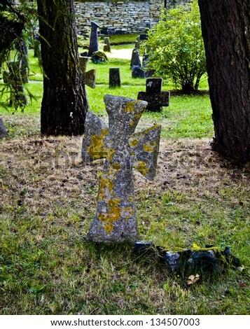 Cemetery, St. Brigitta convent, Pirita, Tallinn, Estonia  - stock photo