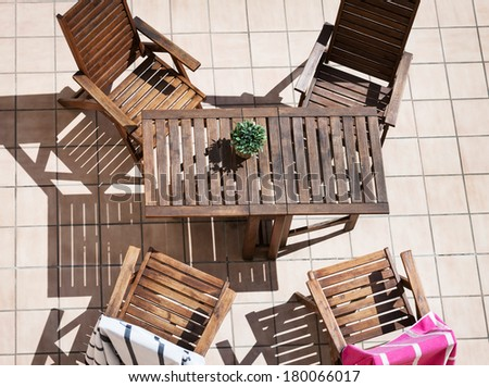 chairs and a table - stock photo