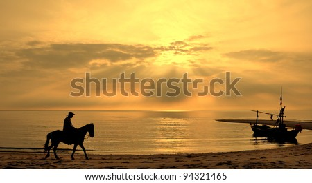 Char-am beach,Petburee province,Thailand - stock photo