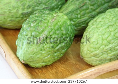 Chayote , fruit - stock photo