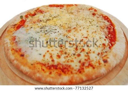4 cheese pizza - stock photo