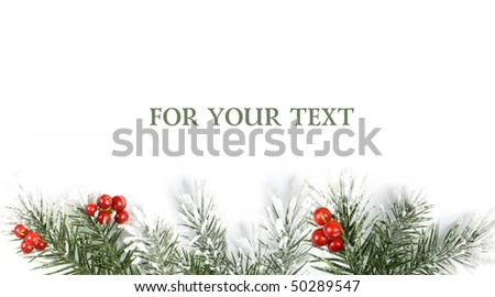 christmas background with space for your text - stock photo