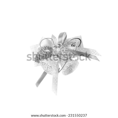 Christmas bells isolated over white background - stock photo