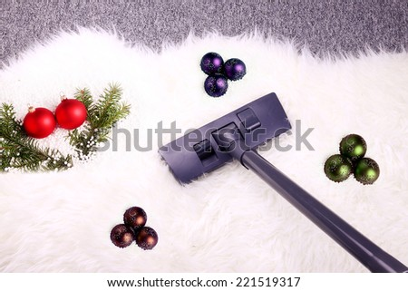 Christmas cleaning - stock photo