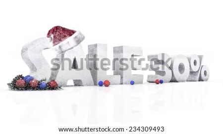 Christmas Sale 30%  - stock photo