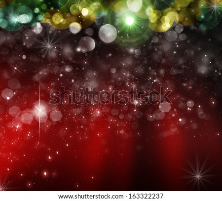 Christmas tree in the background. Blyured bokeh - stock photo