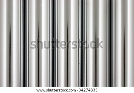chrome silver  pipes abstract background - stock photo