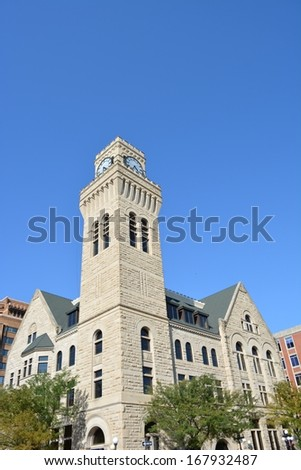 City Hall Building in Sioux City, Iowa. - stock photo
